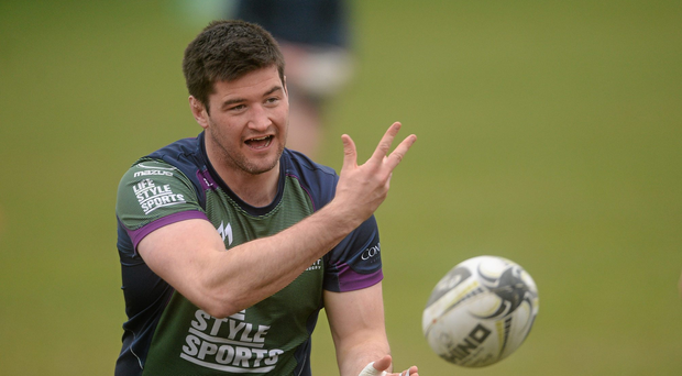 Connacht's Danny Qualter during squad training. Picture credit: Piaras Ó Mídheach / SPORTSFILE