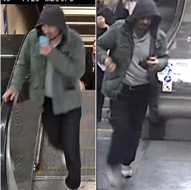 Police want to speak to this man in connection with today's attack