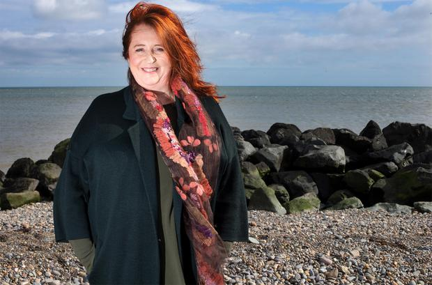 Mary Coughlan on the beach in Bray. Photo: Tony Gavin