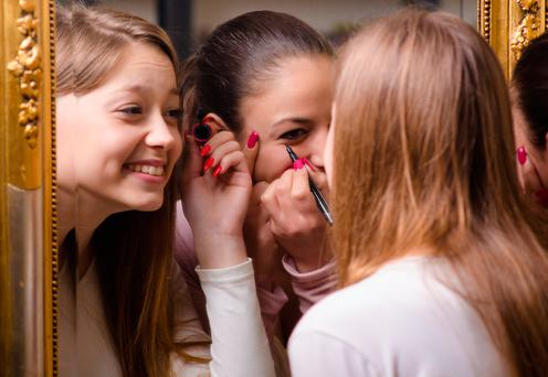 The cost of make-up and hair can run into the hundreds of euro as parents fork out for their daughters to have the latest look Stock photo: Depositphotos