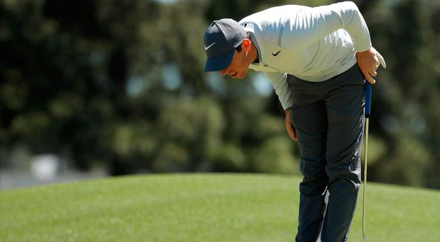 Rickie Fowler, Sergio Garcia among four sharing lead at Masters