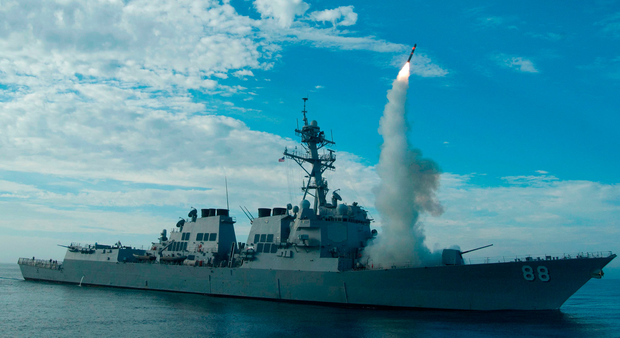 The guided-missile destroyer USS Preble Photo: AFP PHOTO / US NAVY / Mass Communication Specialist 1st Class Woody Paschall