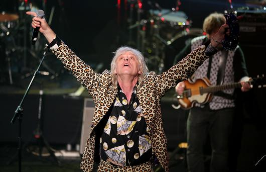 Bob Geldof pictured on stage during the Rock Against Homelessness in the Olympia Theatre (Picture: Frank Mc Grath)