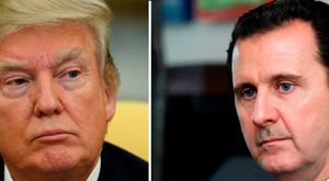 US President Donald Trump (left) and Syria's President Bashar al-Assad (right) Photo: REUTERS/Kevin Lamarque (left) and SANA/Handout via Reuters/File photos (right)
