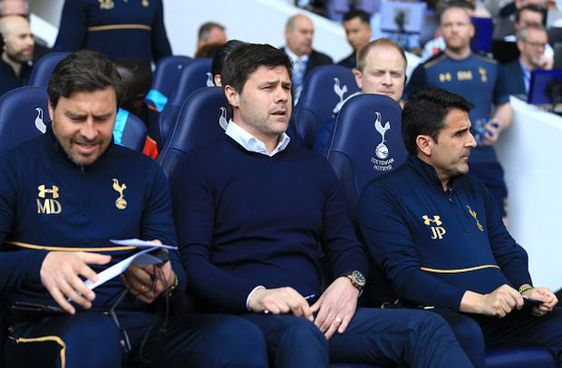 Mauricio Pchettino, Manager of Tottenham Hotspur looks on prior to the Premier League match between Tottenham Hotspur and Watford at White Hart Lane. (Photo by Tottenham Hotspur FC/Tottenham Hotspur FC via Getty Images)