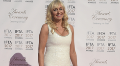 Miriam O'Callaghan arriving on the red carpet for the IFTA Awards 2017 at the Mansion House, Dublin. Photo: Michael Chester