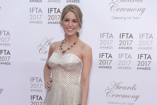 Amy Huberman arriving on the red carpet for the IFTA Awards 2017 at the Mansion House, Dublin.