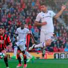 Chelsea striker Diego Costa attempts a shot on goal in his side's comfortable victory against Bournemouth. Photo: PA Wire