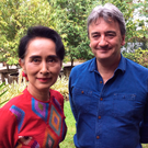 Lack of leadership: Fergal Keane with Aung San Suu Kyi - they have known each other for years, but Keane says the shutters can still come down
