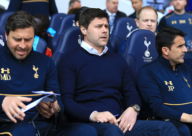 Mauricio Pochettino looks on before Spurs' rampant victory Photo: Tottenham Hotspur FC/Tottenham Hotspur FC via Getty Images