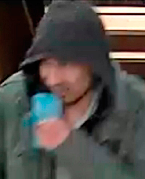 CCTV clue: Swedish police said they wanted to trace this man in the wake of the attack Photo: Swedish police/PA Wire