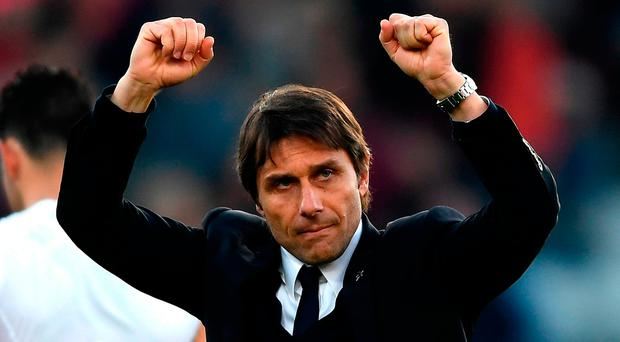Antonio Conte: Fully focused. Photo by Mike Hewitt/Getty Images