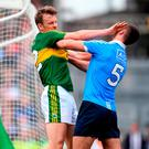 Donnchadh Walsh and James McCarthy exchange words during Kerry's victory over Dublin. Photo: STEPHEN McCARTHY/SPORTSFILE