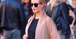 Rosie Huntington-Whiteley seen out in Manhattanon April 9, 2017 in New York City. (Photo by Robert Kamau/GC Images)