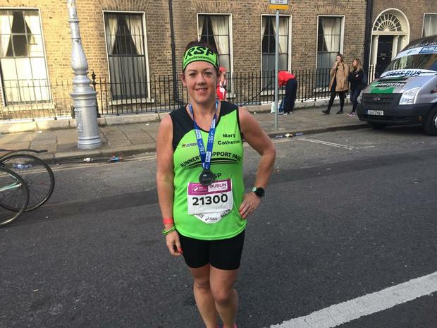 Mary Catherine has shed more than 11st (69kg) after picking up a passion for running.