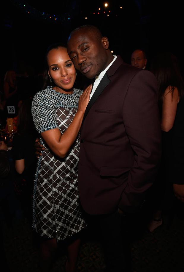 Kerry Washington and fashion and style director of W magazine Edward Enninful attend the 18th Annual Accessories Council ACE Awards At Cipriani 42nd Street at Cipriani 42nd Street on November 3, 2014 in New York City. (Photo by Jamie McCarthy/Getty Images for ACE Awards)