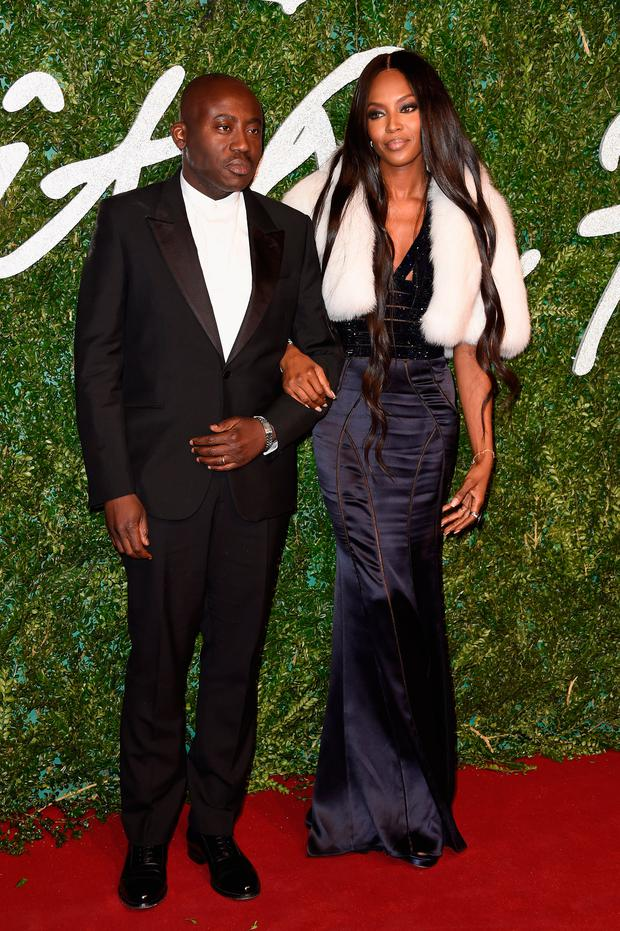 Edward Enninful and Naomi Campbell attend the British Fashion Awards at London Coliseum on December 1, 2014 in London, England. (Photo by Pascal Le Segretain/Getty Images)