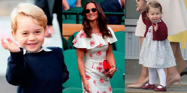 Prince George and Princess Charlotte will take lead roles in Pippa Middleton's wedding. Images: Getty