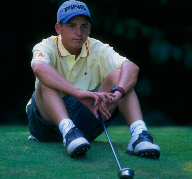 Sergio Garcia during the 1995 European Young Masters at Wentworth in Surrey, England. Photo: David Cannon/Allsport