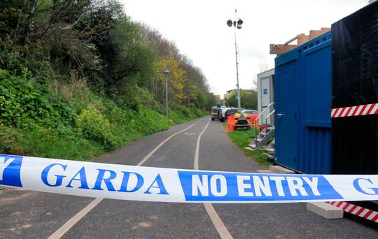 The grim discovery of the remains of James Nolan was made at an embankment in Tolka Valley Park in Finglas. Photo: Collins