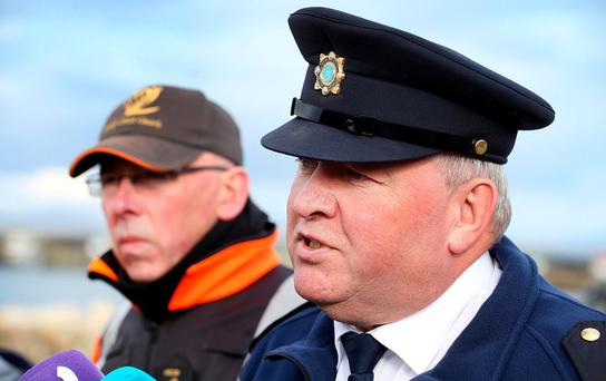 Supt Tony Healy said the Garda water unit would conduct diving searches in the vicinity of Black Rock Lighthouse as soon as wind and tidal conditions allowed. Photo: Steve Humphreys