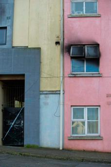 The apartment in Waterford where the fire broke out. Photo: Patrick Browne