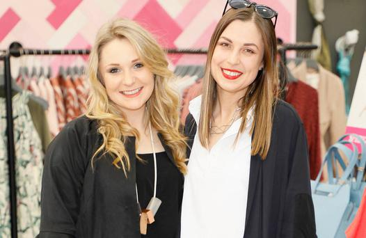 Susannah Hill and Ciara McDonald at the launch of AVOCA's new store in Dunboyne. Picture: Kieran Harnett