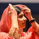 Malala Yousafzai attends a ceremony after being selected a United Nations messenger of peace in New York, NY, April 10, 2017. REUTERS/Stephanie Keith