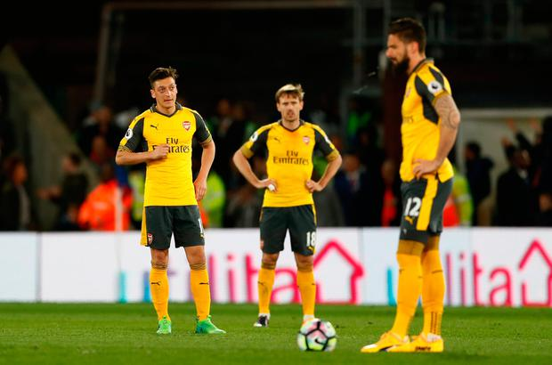 The current culture at Arsenal is unacceptable - where are the leaders? CREDIT: GETTY IMAGES