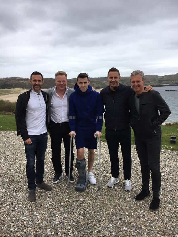 Seamus Coleman was visited by friends from his club today