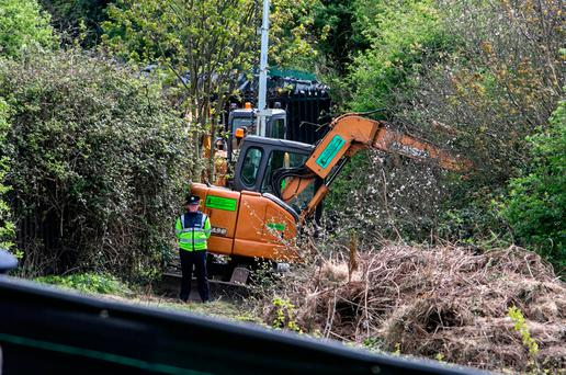 The site in Finglas where a torso, believed to be that of James Nolan, was discovered. Photo: Kyran O'Brien