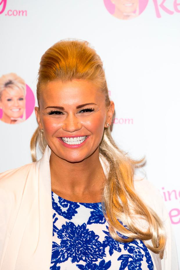 Kerry Katona launches her new venture 'Bingo With Kerry' on January 26, 2016 in London, England. (Photo by Luca Teuchmann/Getty Images)