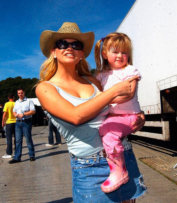 Kerry McFadden and daughter Molly pose at the
