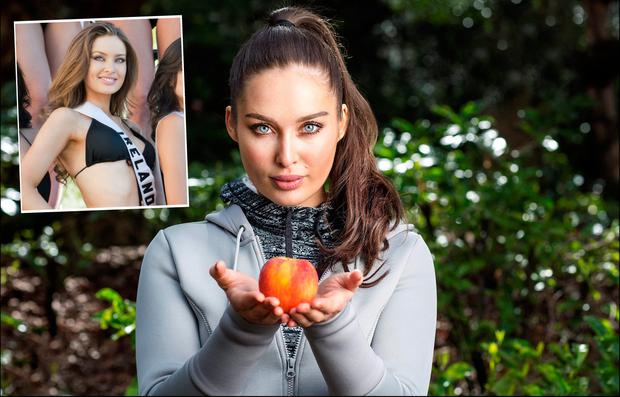 Roz Purcell is one of Ireland's leading food personalities now, centre, at Miss Universe in 2010, inset