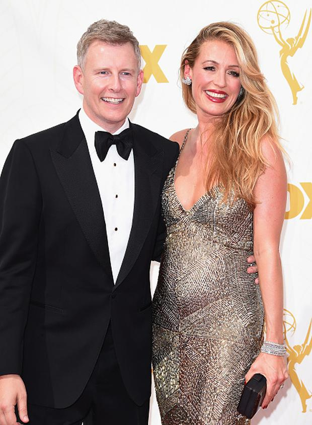 LOS ANGELES, CA - SEPTEMBER 20: Comedian Patrick Kielty (L) and tv personality Cat Deeley attend the 67th Annual Primetime Emmy Awards at Microsoft Theater on September 20, 2015 in Los Angeles, California. (Photo by Jason Merritt/Getty Images)