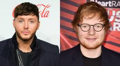 James Arthur (L) and Ed Sheeran. Images: Getty