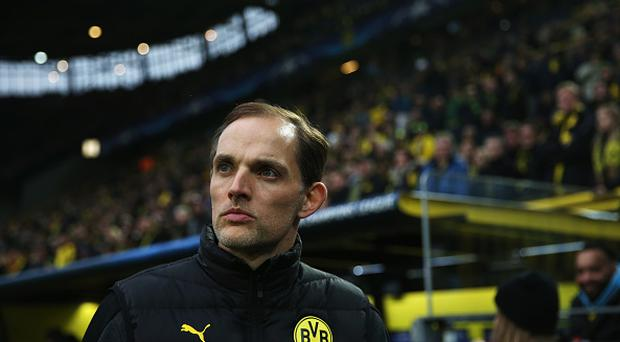 DORTMUND, GERMANY - APRIL 12: Thomas Tuchel, head coach of Borussia Dortmund looks on ahead of the UEFA Champions League Quarter Final first leg match between Borussia Dortmund and AS Monaco at Signal Iduna Park on April 12, 2017 in Dortmund, Germany. (Photo by Maja Hitij/Bongarts/Getty Images)