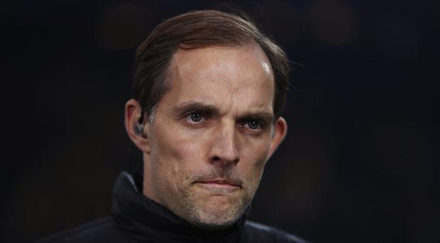Thomas Tuchel, head coach of Borussia Dortmund looks on ahead of the UEFA Champions League Quarter Final first leg match between Borussia Dortmund and AS Monaco at Signal Iduna Park on April 12, 2017 in Dortmund, Germany. The match was rescheduled after an alleged terrorist attack on the Borussia Dortmund team coach as it made it's way to the stadium. (Photo by Maja Hitij/Bongarts/Getty Images)