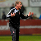 Stephen Kenny is unhappy at the lack of penalties being awarded to Dundalk. Photo: Sportsfile