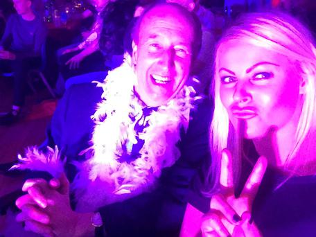 Transport Minister Shane Ross was pictured with socialite Amanda Brunker at a GAA event