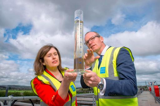 Housing Minister Simon Coveney visiting the new wastewater treatment plant at Shanbally in Co Cork last week. Photo: Provision