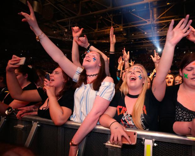 Fans enjoying the gig. Photo: Damien Eagers