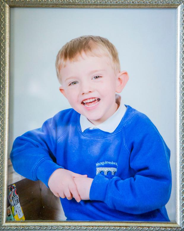 Image of Thomas Magee taken one day before the accident. Hhe was the only son of David and Jacqueline and brother of Emily and Lucianna on April 12th 2017 (Photo - Kevin Scott / Belfast Telegraph)