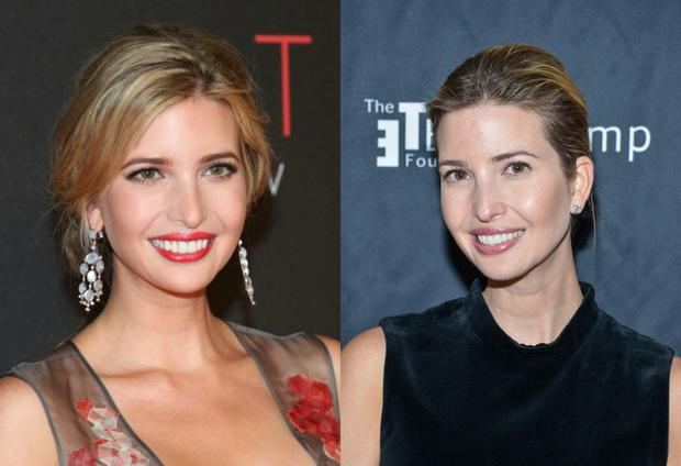 (L) Ivanka in 2012, (R) Ivanka in 2015. Images: Getty