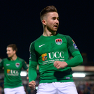 7 April 2017; Sean Maguire of Cork City celebrates after scoring his sides third goal during the SSE Airtricity League Premier Division match between Cork City and Derry City at Turner's Cross in Cork. Photo by Eóin Noonan/Sportsfile