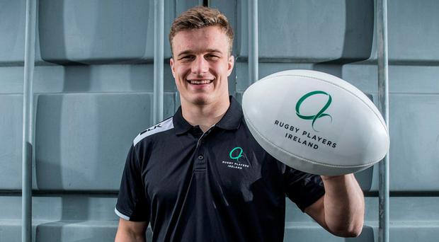 Josh van der Flier pictured at the rebrand launch of Rugby Players Ireland. Photo: INPHO