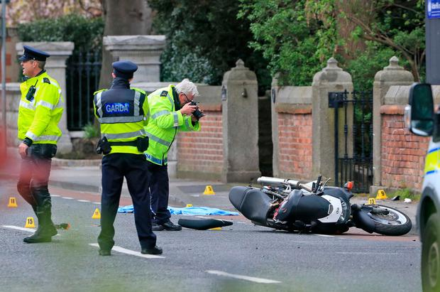 Gardai at the scene of the accident. Photo: Colin Keegan, Collins Dublin.