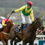 Robbie Power celebrates as he passes the winning post aboard Sizing John in this year's Cheltenham Gold Cup. Photo: Sportsfile