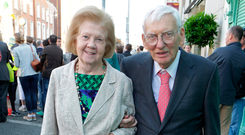 Late former US ambassador Dan Rooney and his wife Patricia in 2013 Picture: Arthur Carron/Collins
