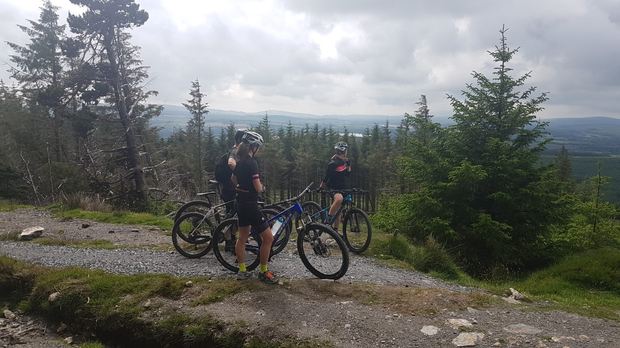 Cyclists at Ballinastoe in the Dublin/Wicklow Mountains. Photo: Michael Hanley.